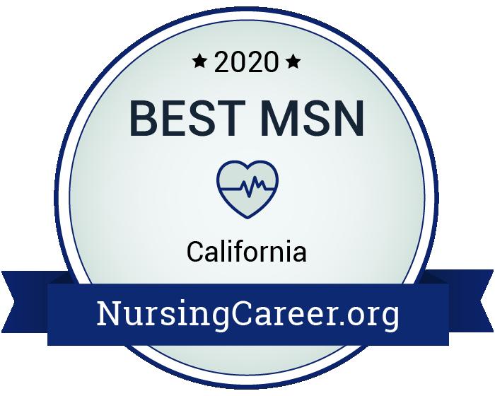 Best Nursing Master's Degrees in California Badge