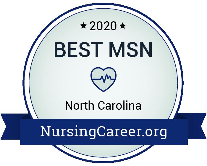Best Nursing Master's Degrees in North Carolina Badge