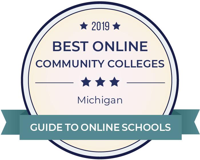 2019 Best Online Community Colleges in michigan Badge