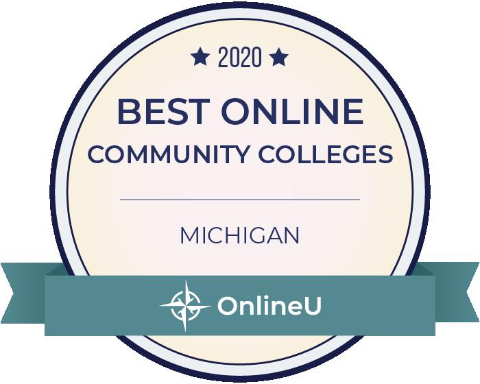 2020 Best Online Community Colleges in Michigan Badge