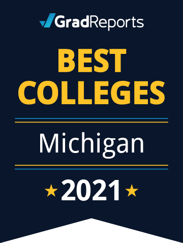 2021 Best Colleges in Michigan Badge