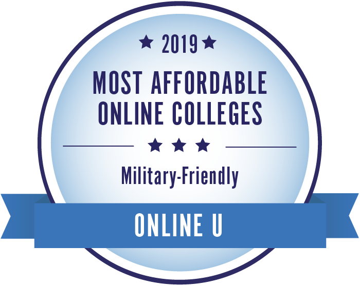 2019 Most Affordable Military Friendly Badge
