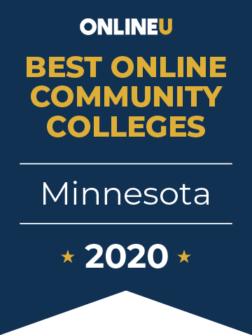 2020 Best Online Community Colleges in Minnesota Badge