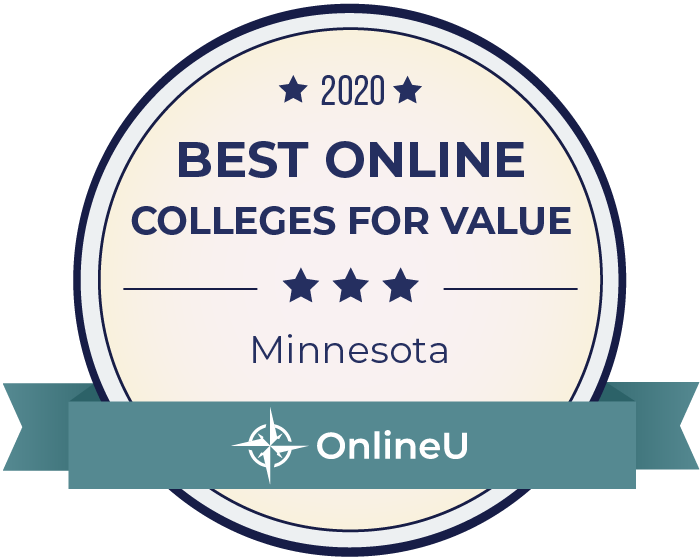 2020 Best Online Colleges in Minnesota Badge