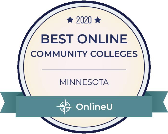 2020 Best Online Community Colleges in Minnesota Badge