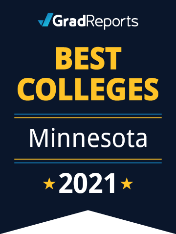 2021 Best Colleges in Minnesota Badge