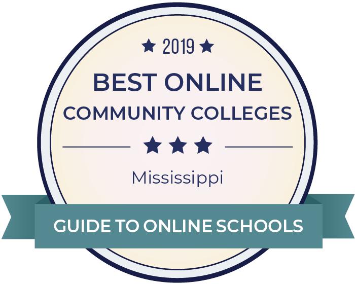 2019 Best Online Community Colleges in mississippi Badge