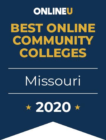 2020 Best Online Community Colleges in Missouri Badge