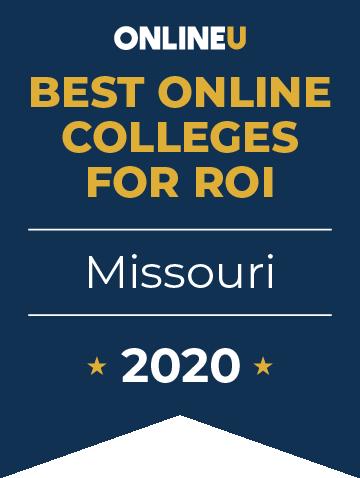 2020 Best Online Colleges in Missouri Badge