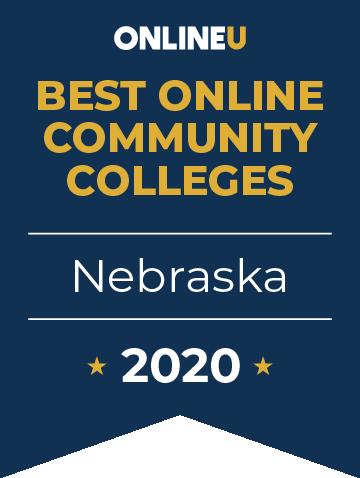 2020 Best Online Community Colleges in Nebraska Badge