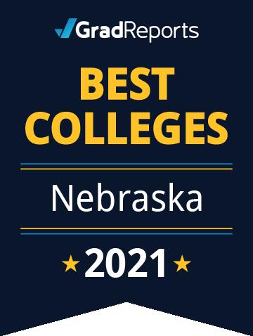 2021 Best Colleges in Nebraska Badge