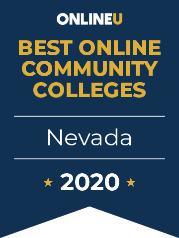 2020 Best Online Community Colleges in Nevada Badge