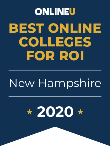 2020 Best Online Colleges in New Hampshire Badge