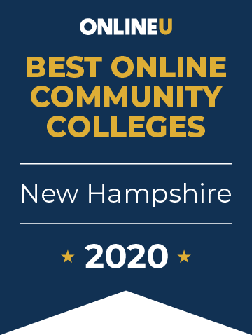 2020 Best Online Community Colleges in New Hampshire Badge
