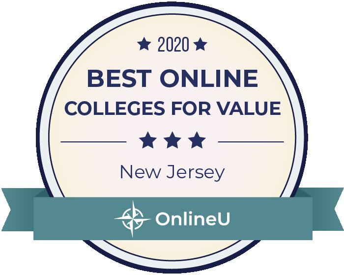 2020 Best Online Colleges in New Jersey Badge