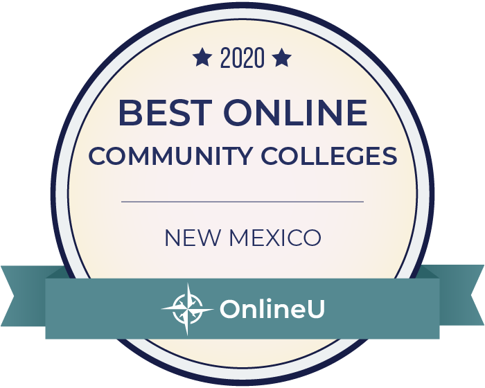 2020 Best Online Community Colleges in New Mexico Badge