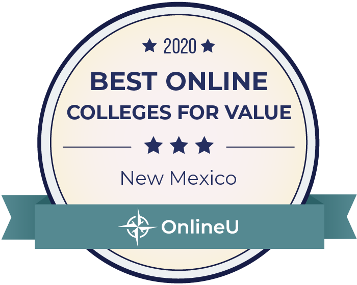 2020 Best Online Colleges in New Mexico Badge