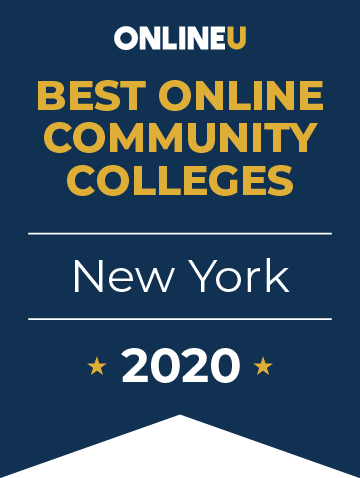 2020 Best Online Community Colleges in New York Badge
