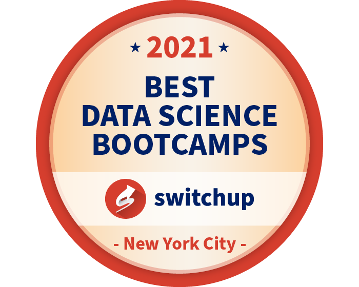 2021 Best Data Science Bootcamps Badge