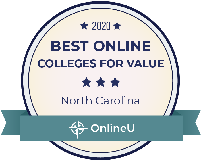 2020 Best Online Colleges in north-carolina Badge