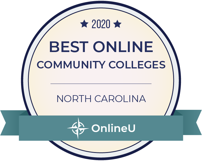 2020 Best Online Community Colleges in North Carolina Badge
