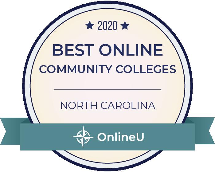 2020 Best Online Community Colleges in North Carolina Badge