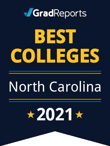 2021 Best Colleges in North Carolina Badge