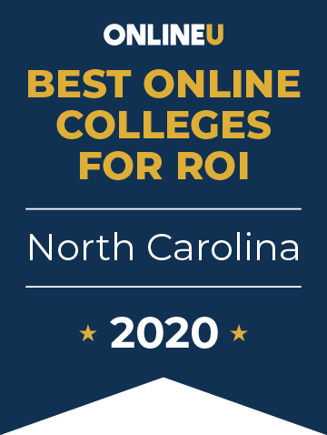 2020 Best Online Colleges in North Carolina Badge