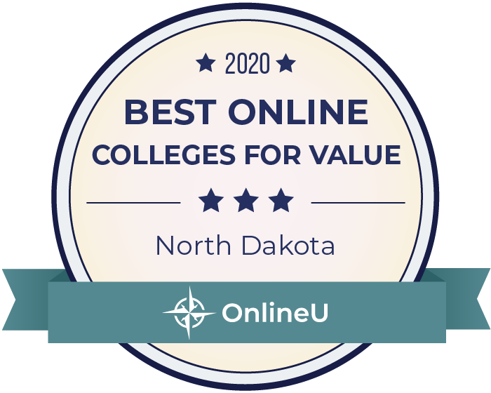 2020 Best Online Colleges in North Dakota Badge
