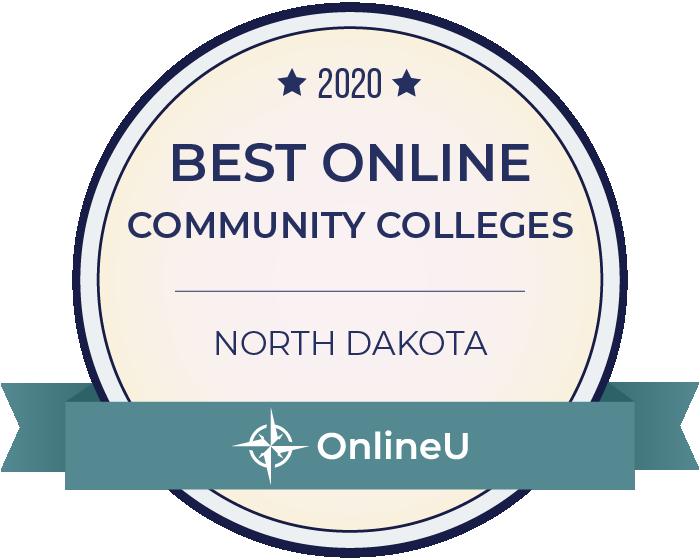 2020 Best Online Community Colleges in North Dakota Badge