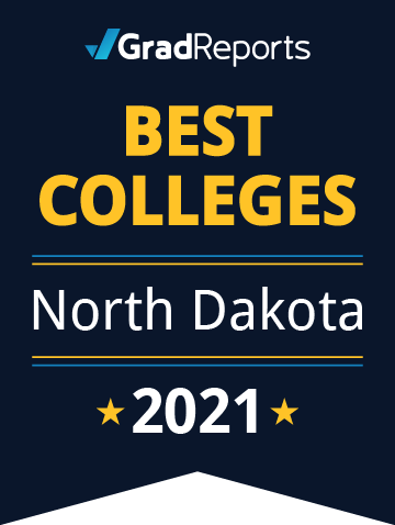 2021 Best Colleges in North Dakota Badge