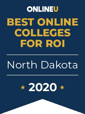 2020 Best Online Colleges in North Dakota Badge