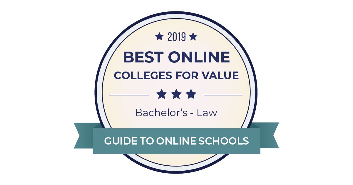 2019 Best Online Colleges For Law Degrees