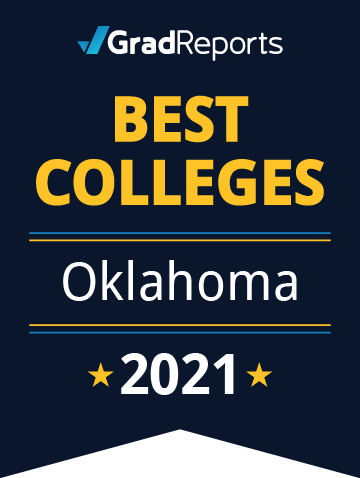 2021 Best Colleges in Oklahoma Badge