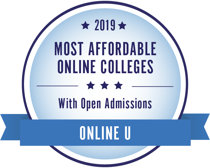 2019 Most Affordable Online Colleges with Open Admissions Badge
