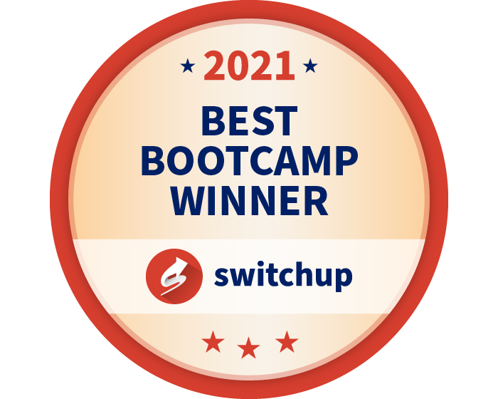 Best coding bootcamp badge 2021