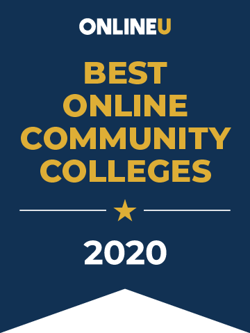 2020 Best Online Community Colleges Badge