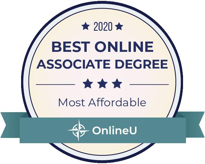 2020 Most Affordable Online Associates Badge
