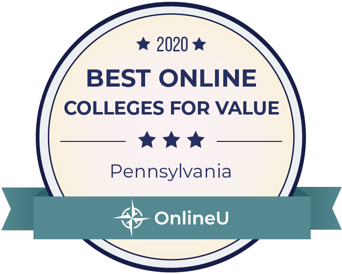 2020 Best Online Colleges in Pennsylvania Badge