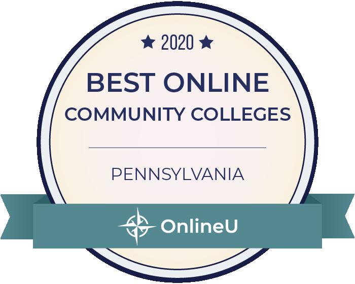 2020 Best Online Community Colleges in Pennsylvania Badge