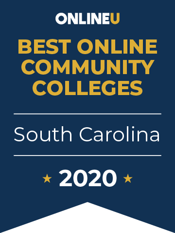 2020 Best Online Community Colleges in South Carolina Badge