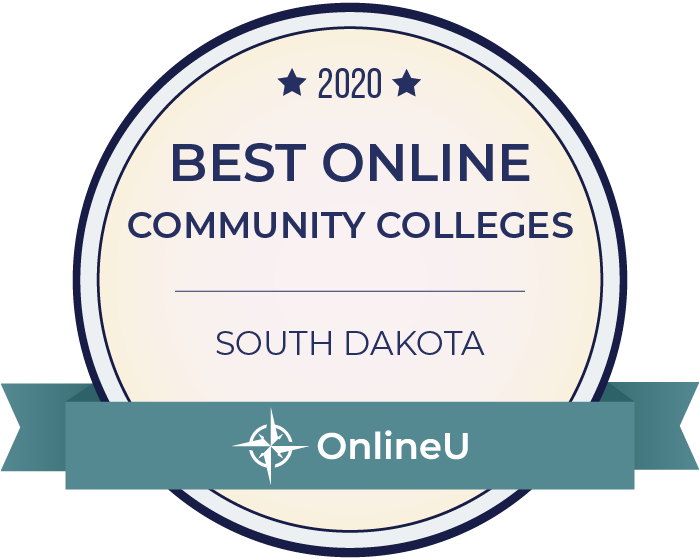 2020 Best Online Community Colleges in South Dakota Badge