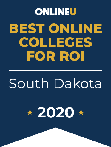 2020 Best Online Colleges in South Dakota Badge