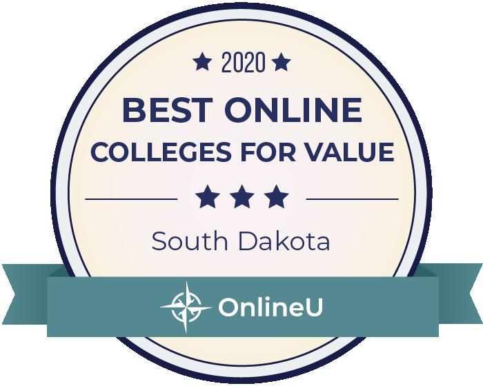 2020 Best Online Colleges in South Dakota Badge