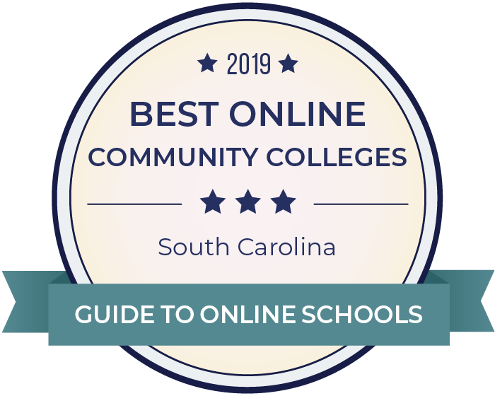 2019 Best Online Community Colleges in south-carolina Badge