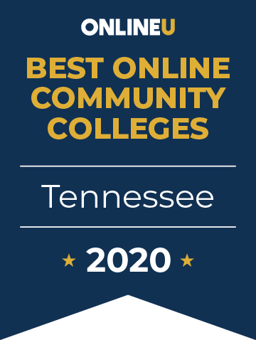 2020 Best Online Community Colleges in Tennessee Badge