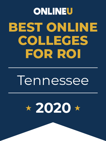 2020 Best Online Colleges in Tennessee Badge