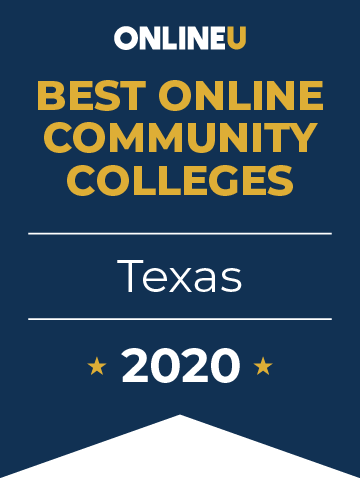 2020 Best Online Community Colleges in Texas Badge