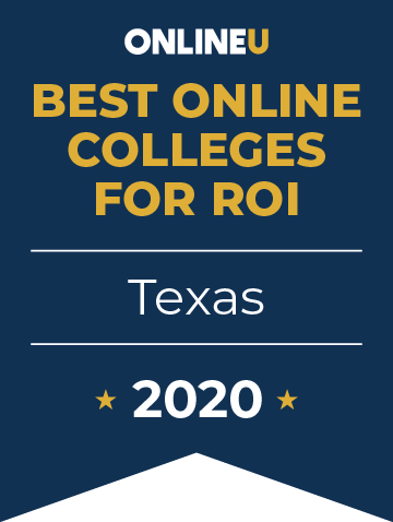 2020 Best Online Colleges in Texas Badge