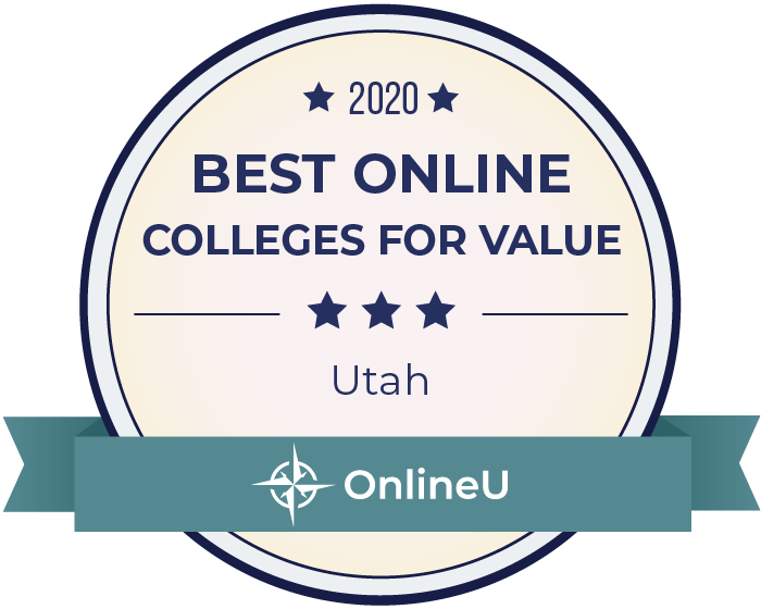 2020 Best Online Colleges in Utah Badge